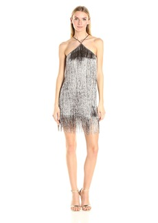 Rachel Zoe Women's Pierce Fringe Dress  M
