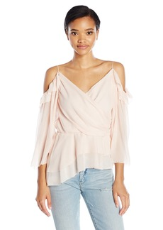 Rachel Zoe Women's Renee Cold Shoulder Wrap Top