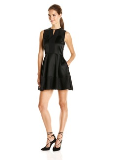 Rachel Zoe Women's Seanette Tuxedo Fit and Flare Dress