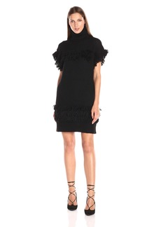 Rachel Zoe Women's Teegan Fringe Sweater Dress