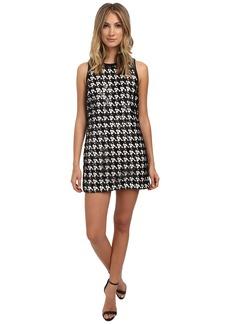 Rachel Zoe Zadie Houndstooth Lace Sequin Dress