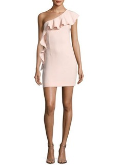 Rachel Zoe Zoey One-Shoulder Ruffle Cocktail Dress