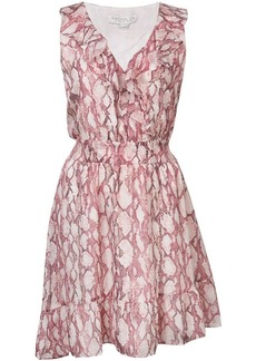 Rachel Zoe snakeskin print asymmetric dress