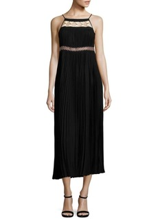 Rachel Zoe Solid Pleated Dress