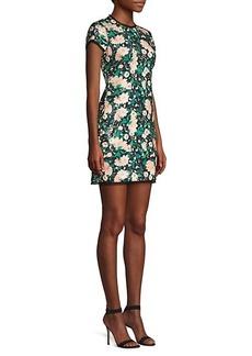 Rachel Zoe Sonia Floral Sequin Open Back Mini Dress