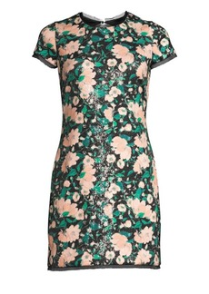 Rachel Zoe Sonia Floral Sequin Open Back Mini Dress
