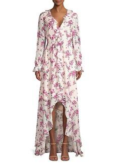 Rachel Zoe Thea Floral High-Low Gown