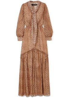 Rachel Zoe Verushka Leopard-print Silk-chiffon Maxi Dress