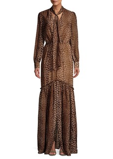 Rachel Zoe Verushka Leopard Silk Maxi Gown