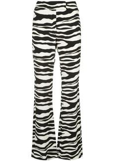 Rachel Zoe zebra-print flared trousers