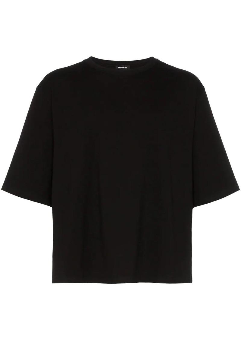 Raf Simons perforated detail cotton T-shirt