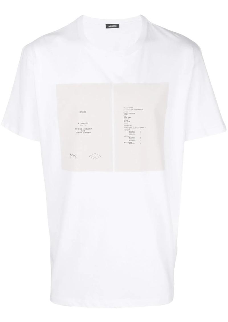 Raf Simons chest print T-shirt