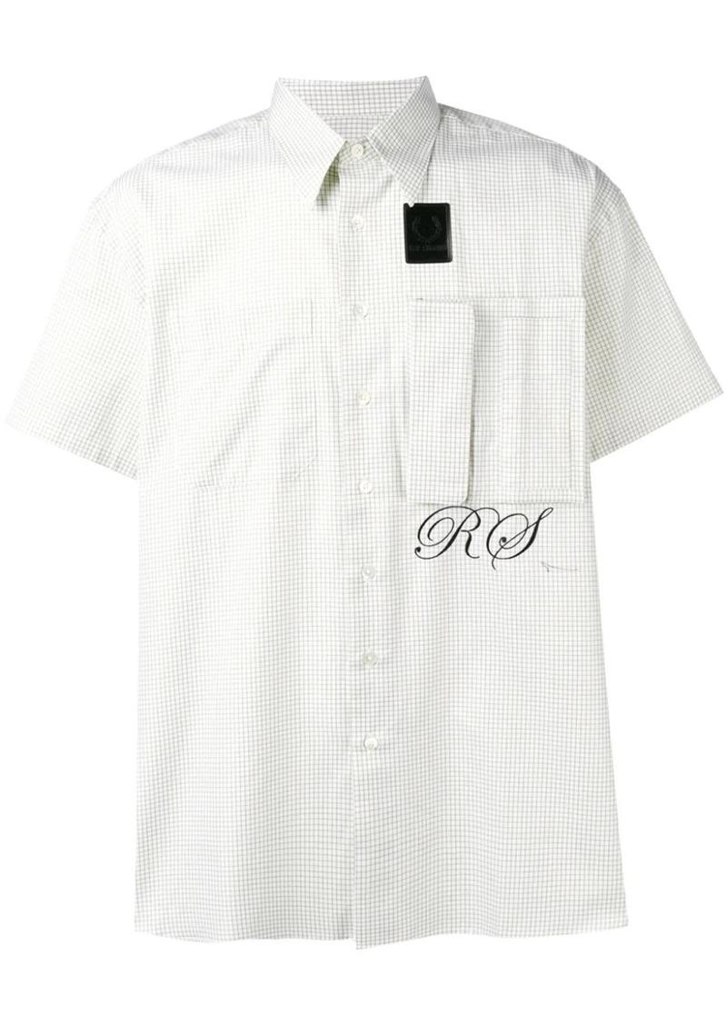 Raf Simons logo check short-sleeve shirt