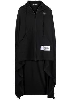 Raf Simons logo-patch asymmetric-hem hoodie