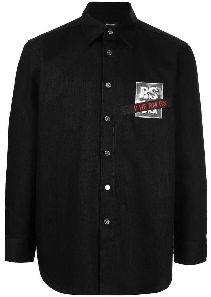 Raf Simons logo-patch denim shirt