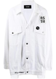 Raf Simons logo-patch shirt jacket