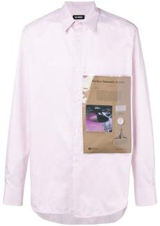 Raf Simons plastic pocket checked shirt