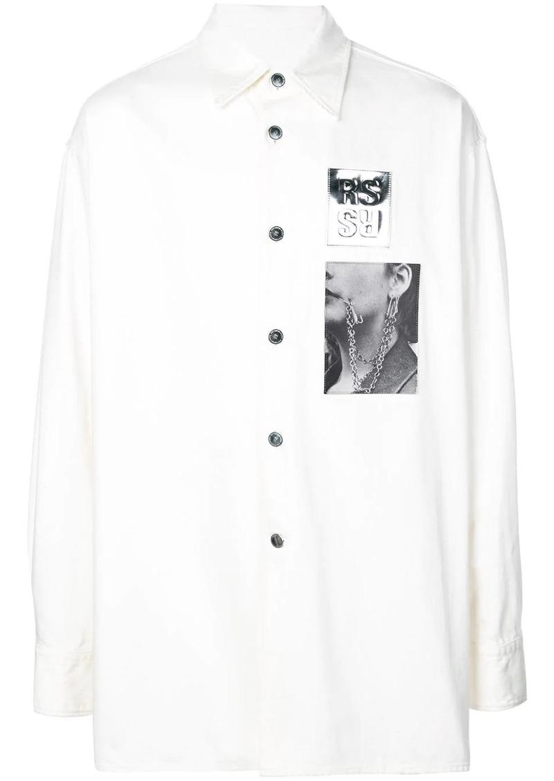 Raf Simons printed patch shirt