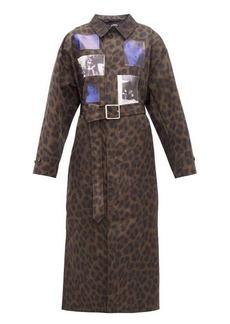 Raf Simons Animalier leopard-print belted technical coat