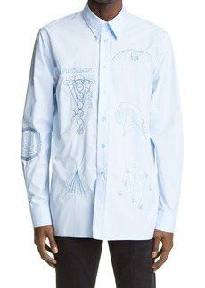 Raf Simons Archive Redux SS '04 Embroidered Button-Up Shirt