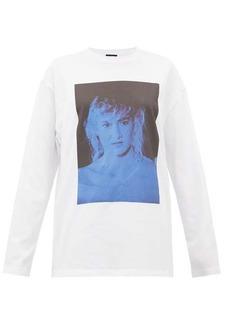 Raf Simons Blue Velvet-print cotton-jersey T-shirt