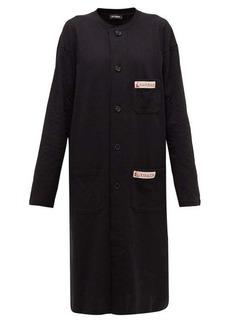 Raf Simons Collarless cotton-jersey dress