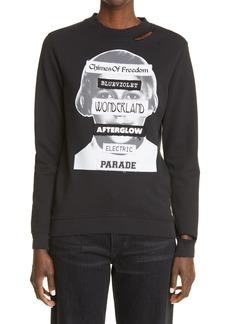Raf Simons Distressed Graphic Sweatshirt