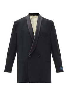 Raf Simons Double-breasted oversized wool-blend blazer