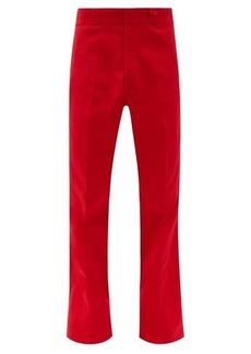 Raf Simons Grain de poudre cotton flared-leg trousers