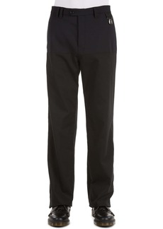 Raf Simons Horizontal Panel Wool Blend Pants