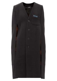 Raf Simons Labo chest-logo wool-blend cape