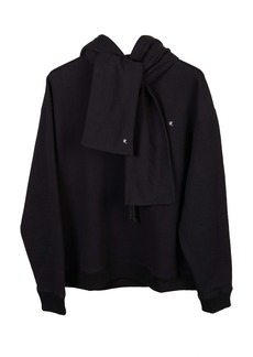 Raf Simons Logo Cotton Hoodie with Removable Scarf (Unisex)