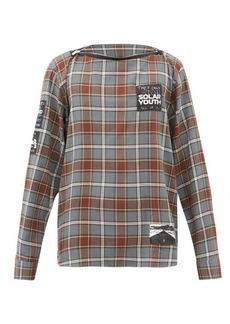 Raf Simons Logo-patch check cotton-flannel shirt