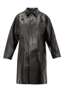 Raf Simons Oversized ring-embellished leather coat