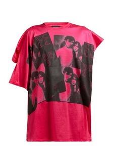 Raf Simons Photographic-print double-sleeve cotton T-shirt