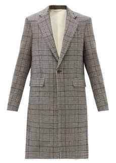 Raf Simons Prince of Wales-check single-breasted blazer