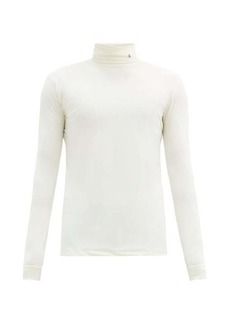 Raf Simons R-embroidered roll-neck jersey top