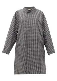 Raf Simons Single-breasted checked cotton-blend coat