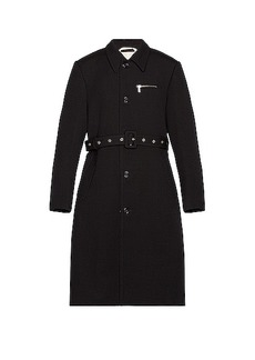Raf Simons Slim Fit Trench Coat With Zipped Pockets