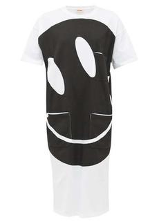 Raf Simons Smiley-print cotton T-shirt dress