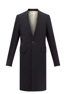 Raf Simons V-neck single-breasted wool-blend coat