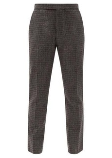 Raf Simons Zip-cuff check wool-blend tailored trousers