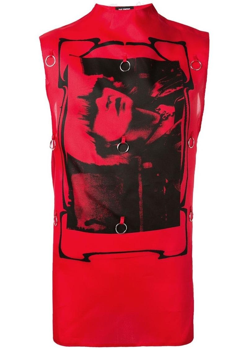 Raf Simons Toyah print tank top