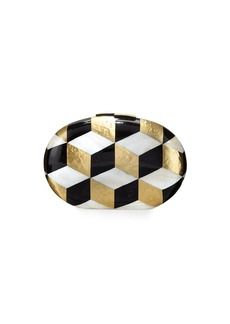 Rafe Liz Geometric Oval Minaudiere