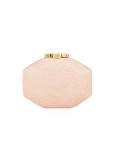 Rafe Sofia Straw Clutch Polygon Bag