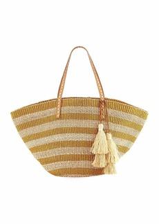 Rafe Sunni Large Straw Beach Tote Bag