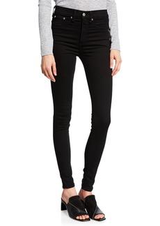 Rag & Bone 10 Inch Skinny Jeans  Black