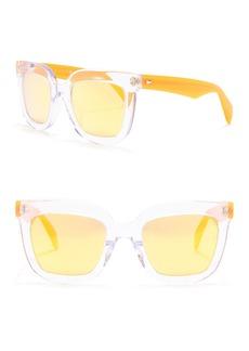 rag & bone 52mm Clear Square Sunglasses