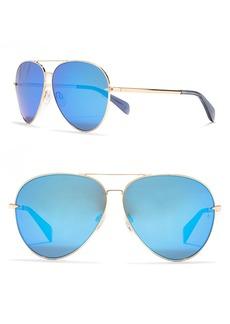 rag & bone 62mm Aviator Sunglasses