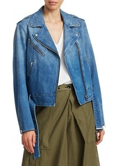 rag & bone Abbey Denim Moto Jacket